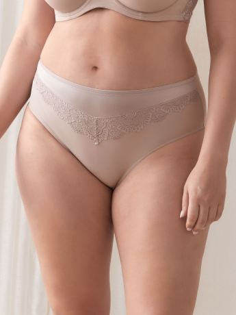 High Cut Brief Panty with Lace - Déesse Collection