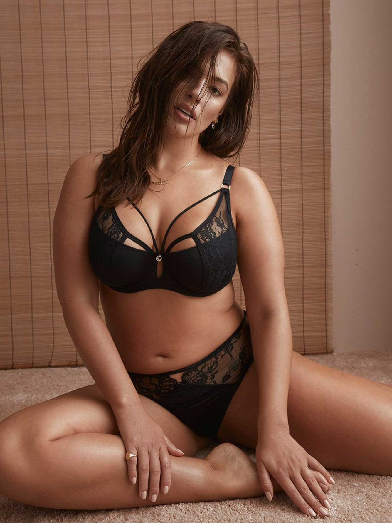 61c5ed234b Micro Jersey Demi Cup Diva Bra with Lace - Ashley Graham