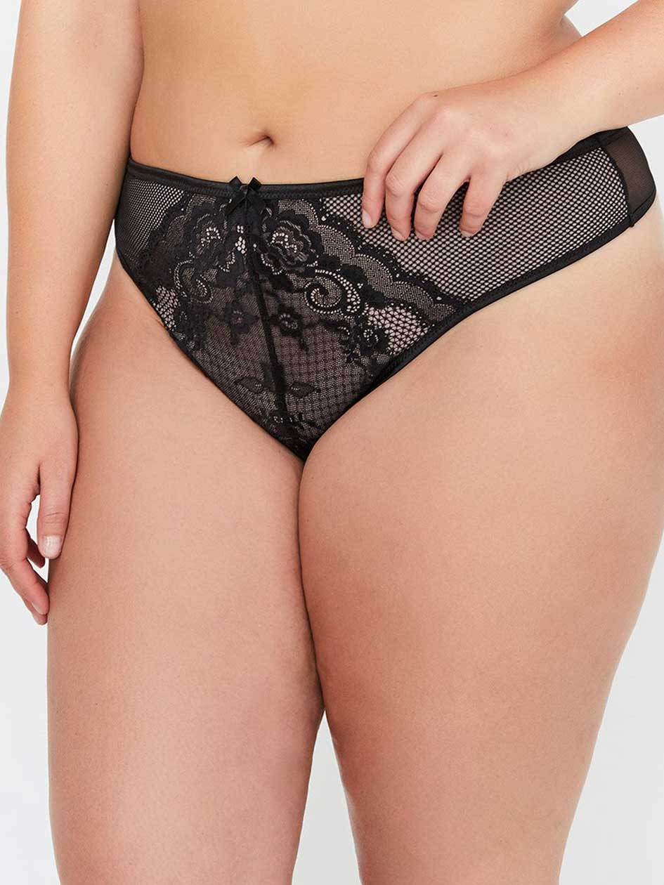d9bfd44f6 Thong with Lace - Déesse Collection