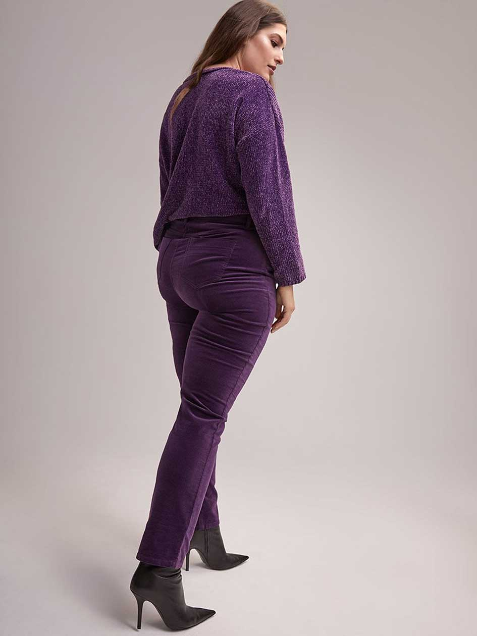 Slightly Curvy Straight Leg Uncut Corduroy Pant - In Every Story