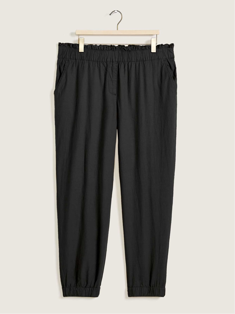 Linen Blend Pull-On Jogger - Addition Elle