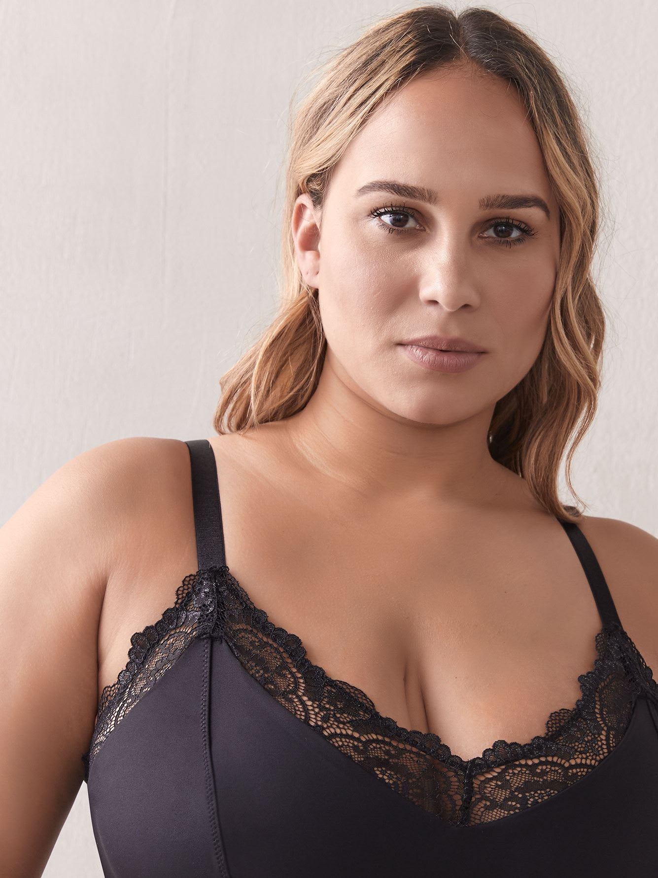 Lace Bodysuit with Inner Bra - Addition Elle
