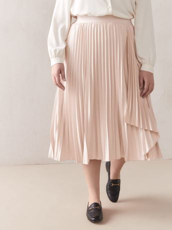 Pleated Skirt with Ruffle Detail - Addition Elle
