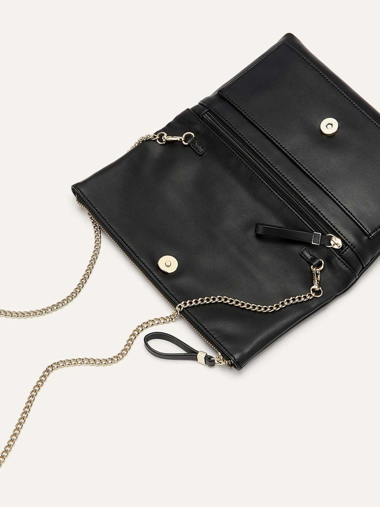 Foldover Clutch with Zipper