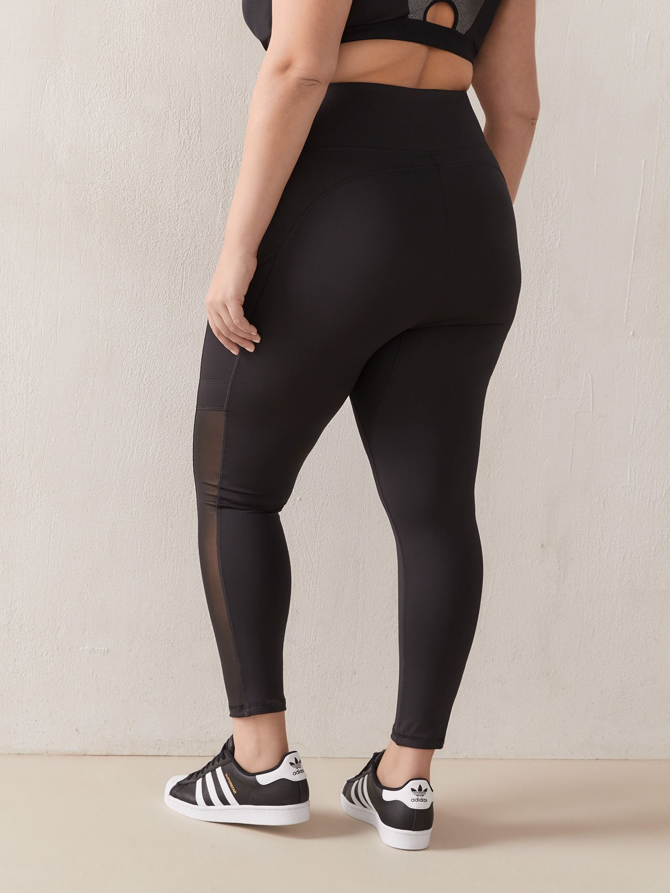 Legging With Side Mesh Insert - ActiveZone