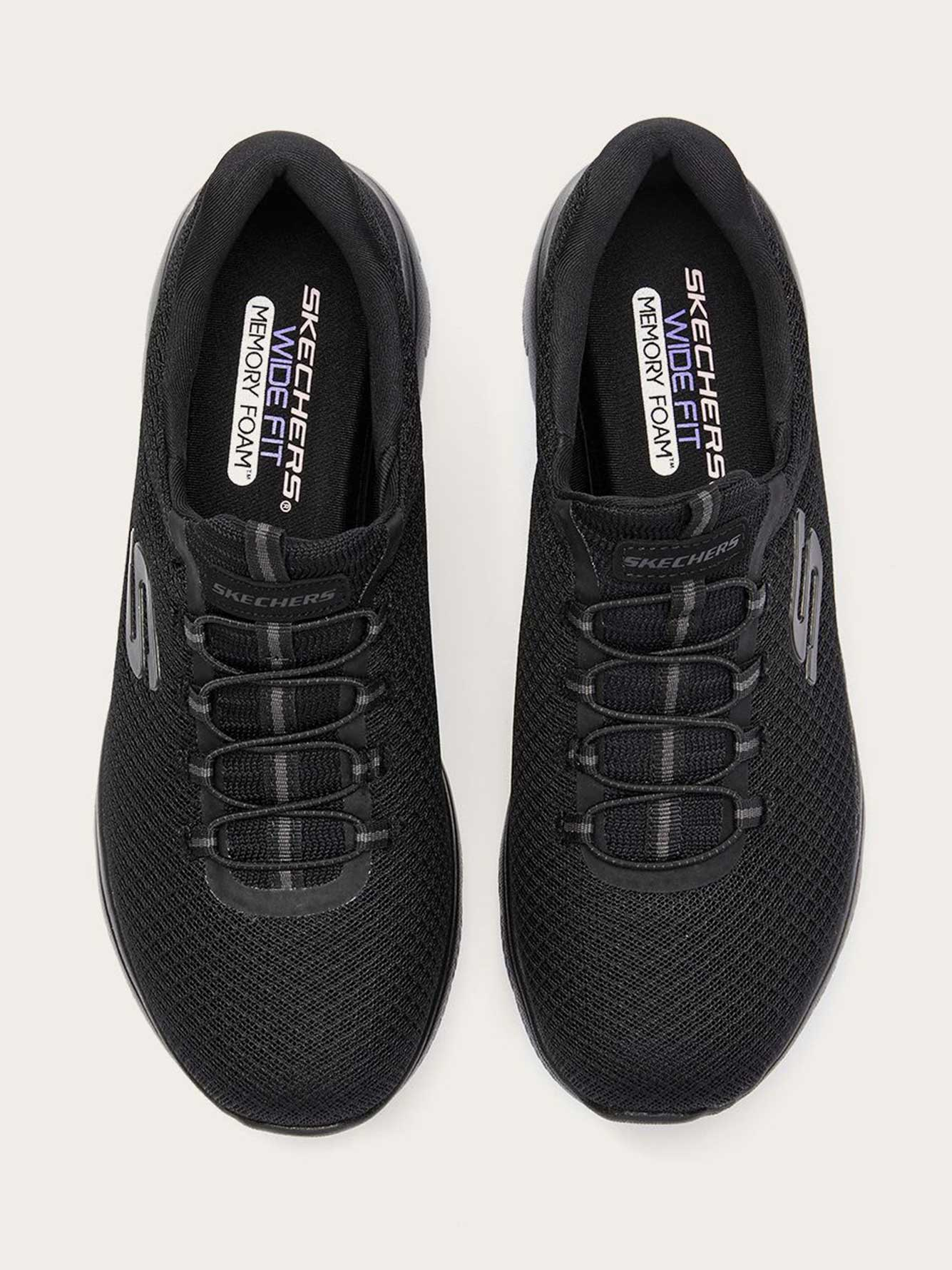 Wide-Width Slip On Sneakers with Mesh