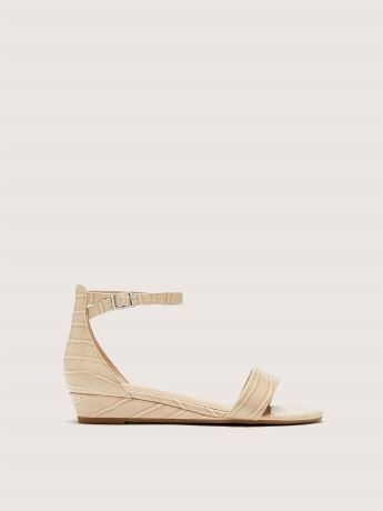 Wide Ankle Strap Wedge Sandal - Addition Elle