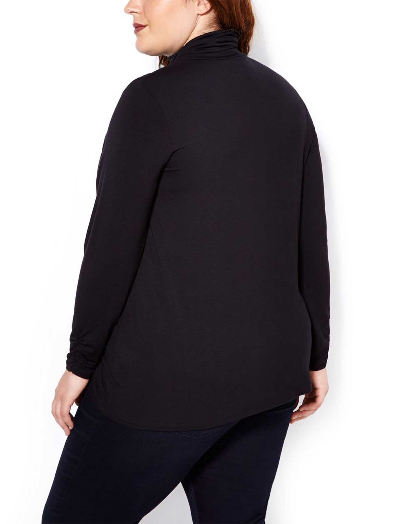Relaxed Fit Long Sleeve Turtleneck