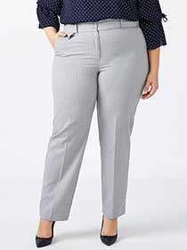 Straight Fit Patterned Straight Leg Pant