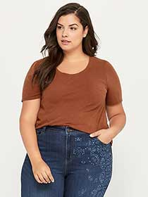 Washed Out Cotton Top with Lace - d/C JEANS
