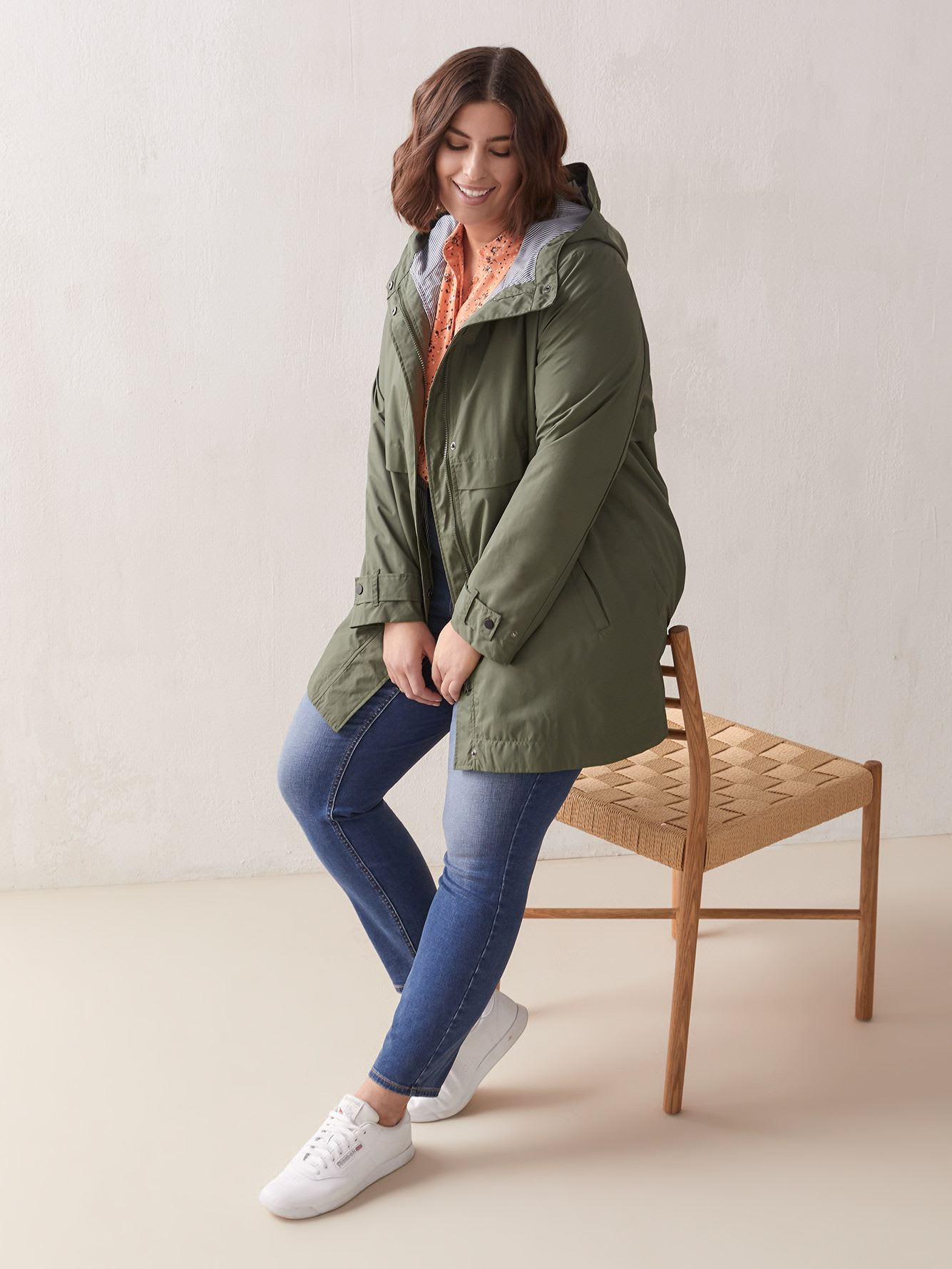 Hooded Knee Length Raincoat - In Every Story