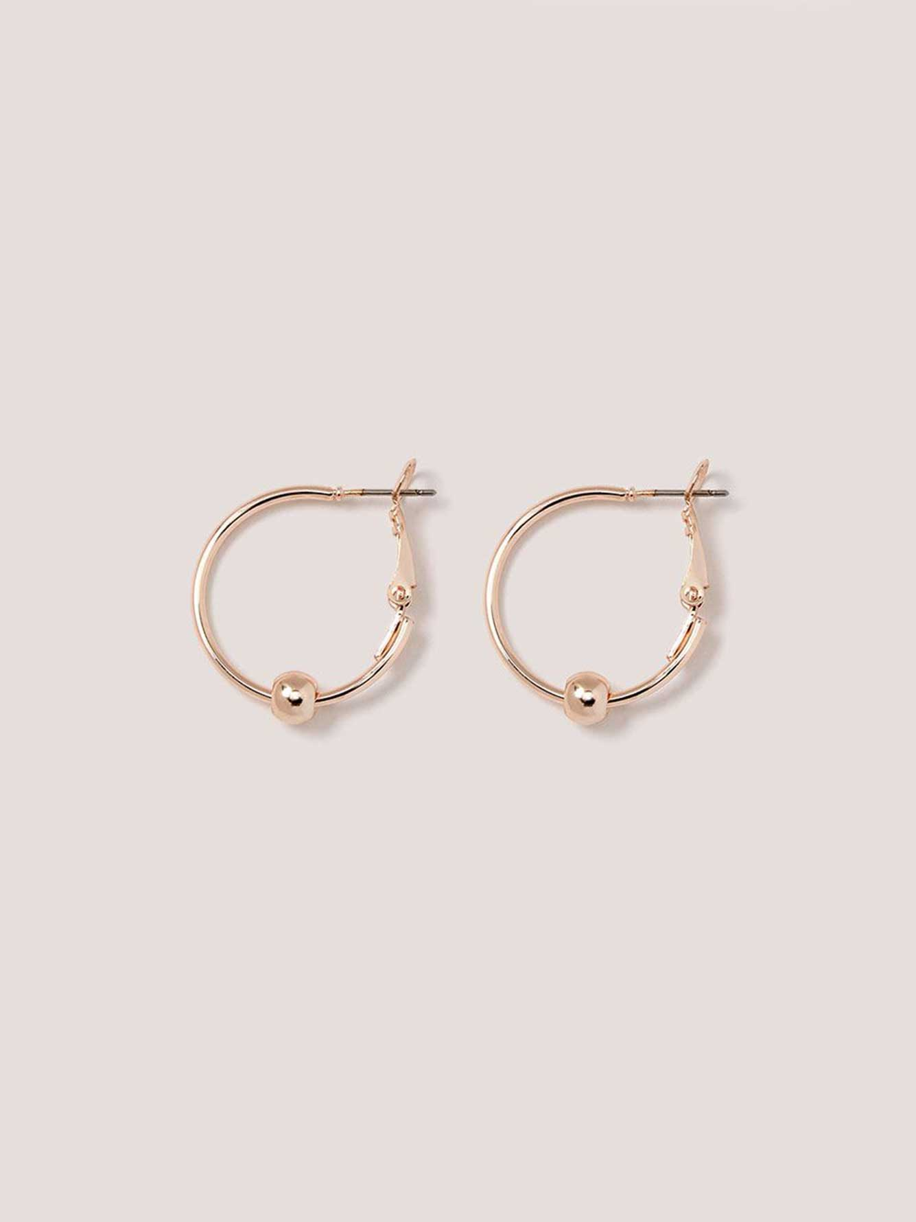 Hoop Earring with Ball Charm