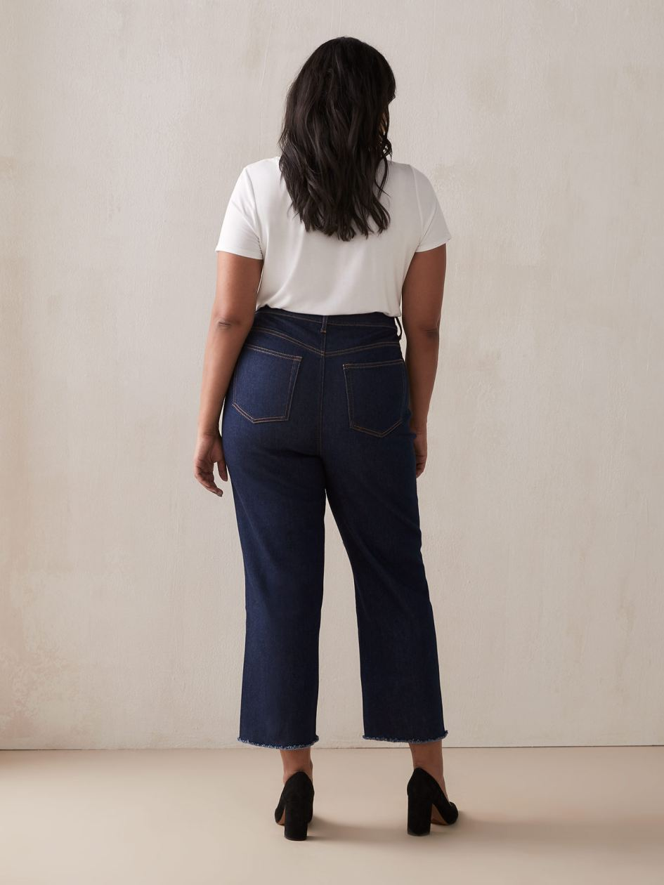 Straight Cropped Dark Jean - Addition Elle