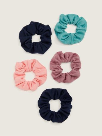 Jersey Knit Scrunchies, Set of 5 - Active Zone