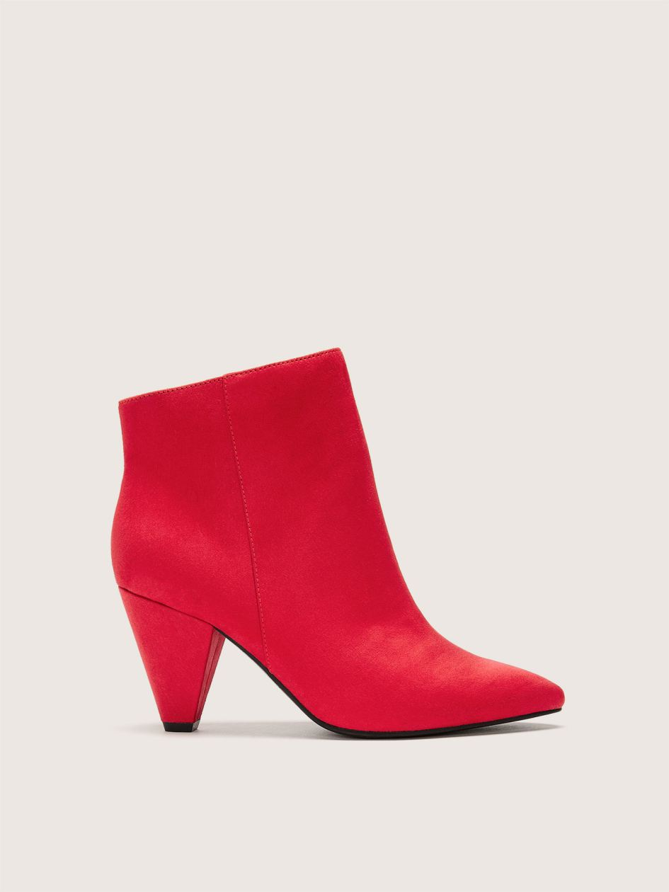 Wide Cone Heel Pointed Toe Bootie - Addition Elle