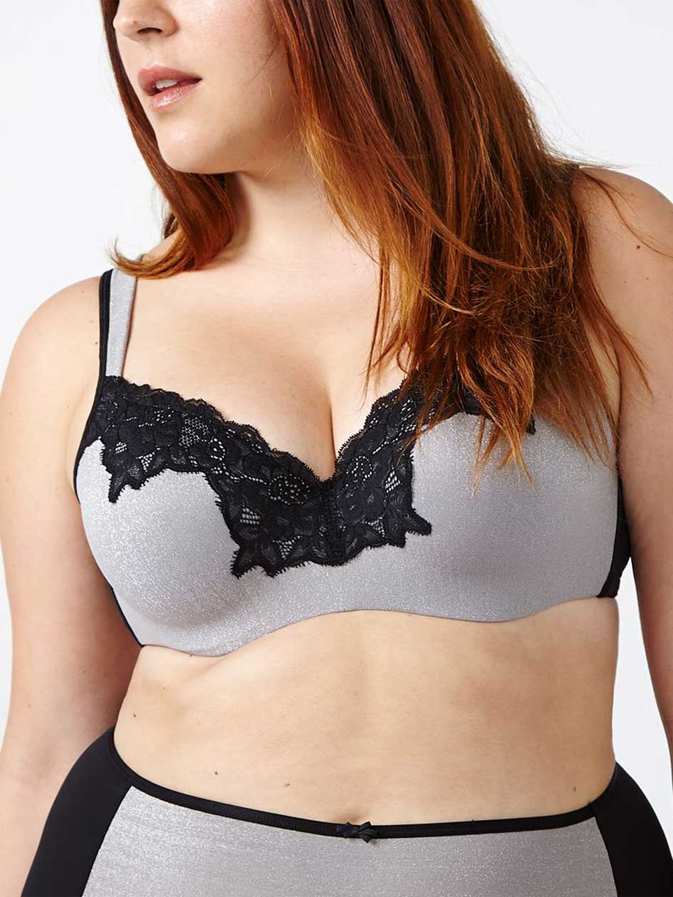 d1641e4ac0a Ti Voglio - Padded T-Shirt Bra with Lace ...