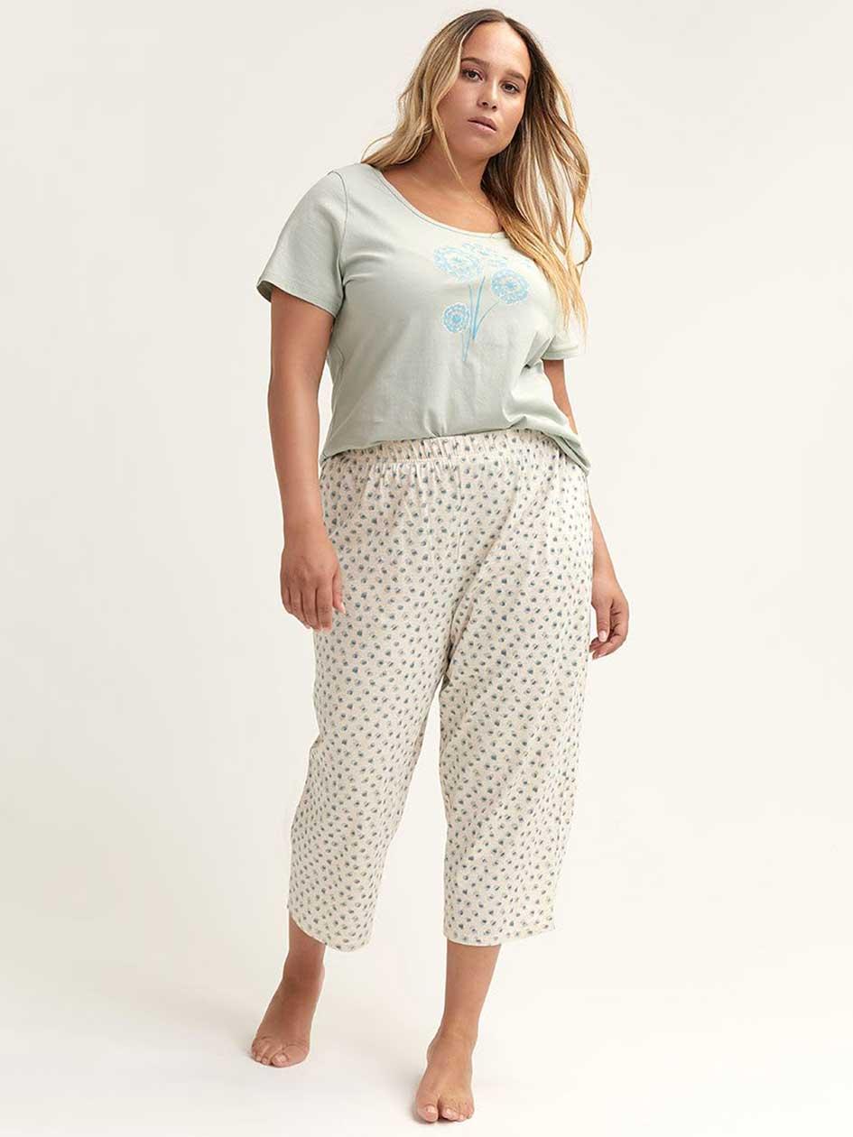 8974ba36d9 Printed Cotton Pyjama Capri - ti Voglio
