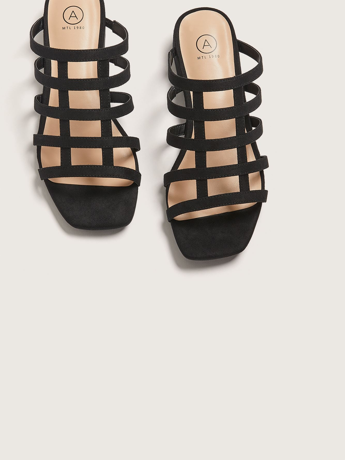 Wide Caged Open Toe Sandal - Addition Elle