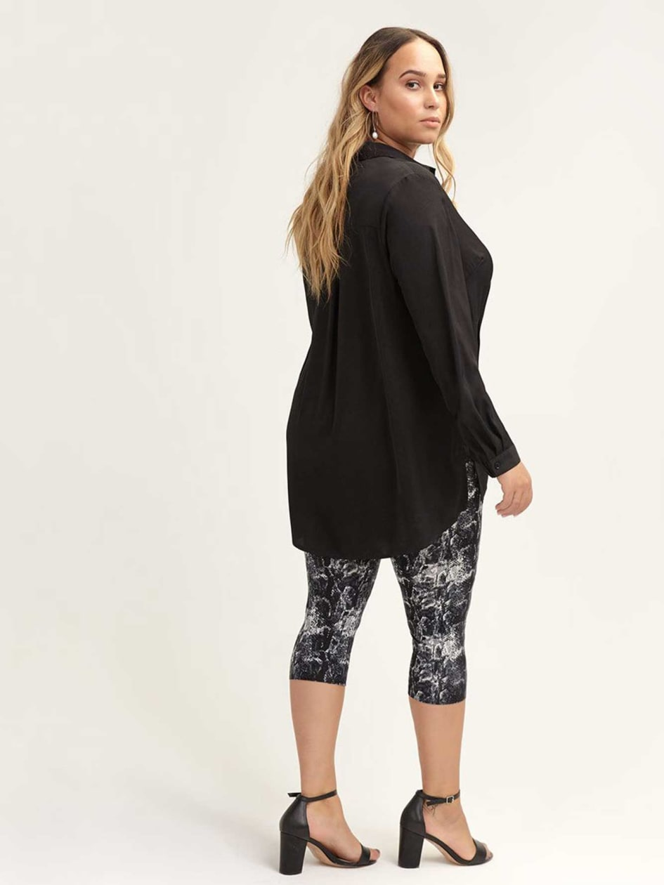 Basic Print Capri Legging