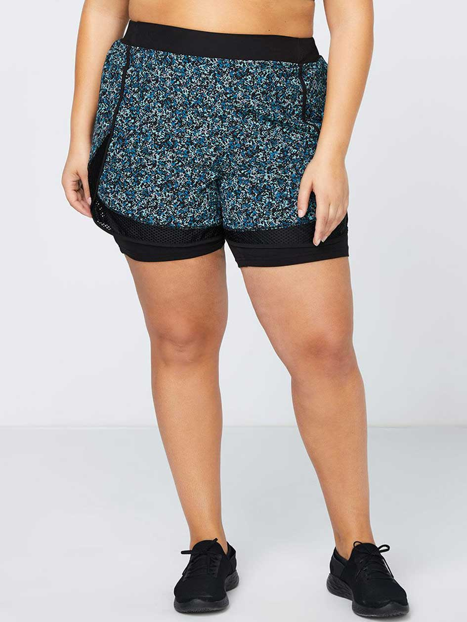 Printed Plus Size Biker Short - ActiveZone