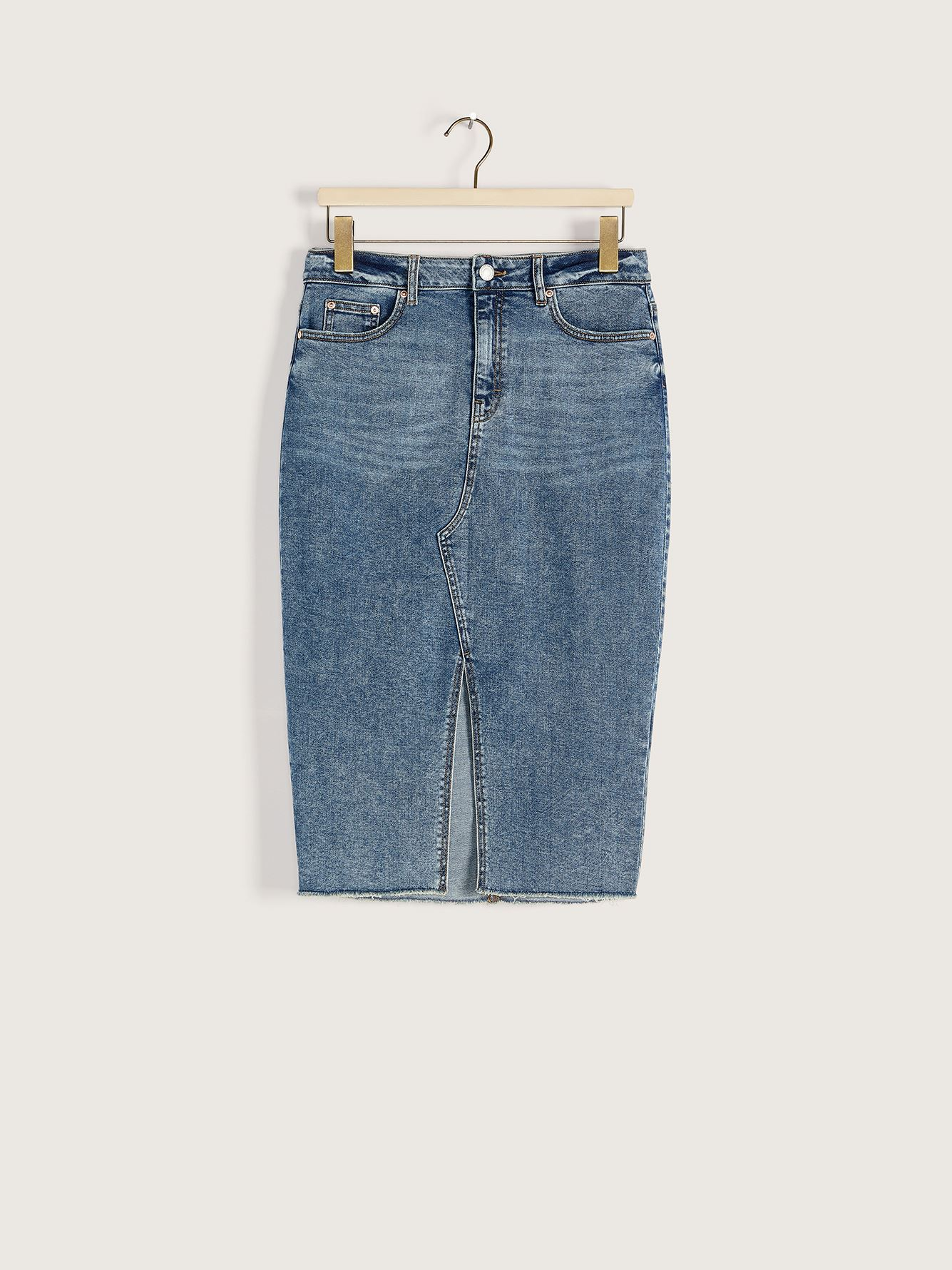 Vintage Midi High-Rise Denim Skirt - Addition Elle
