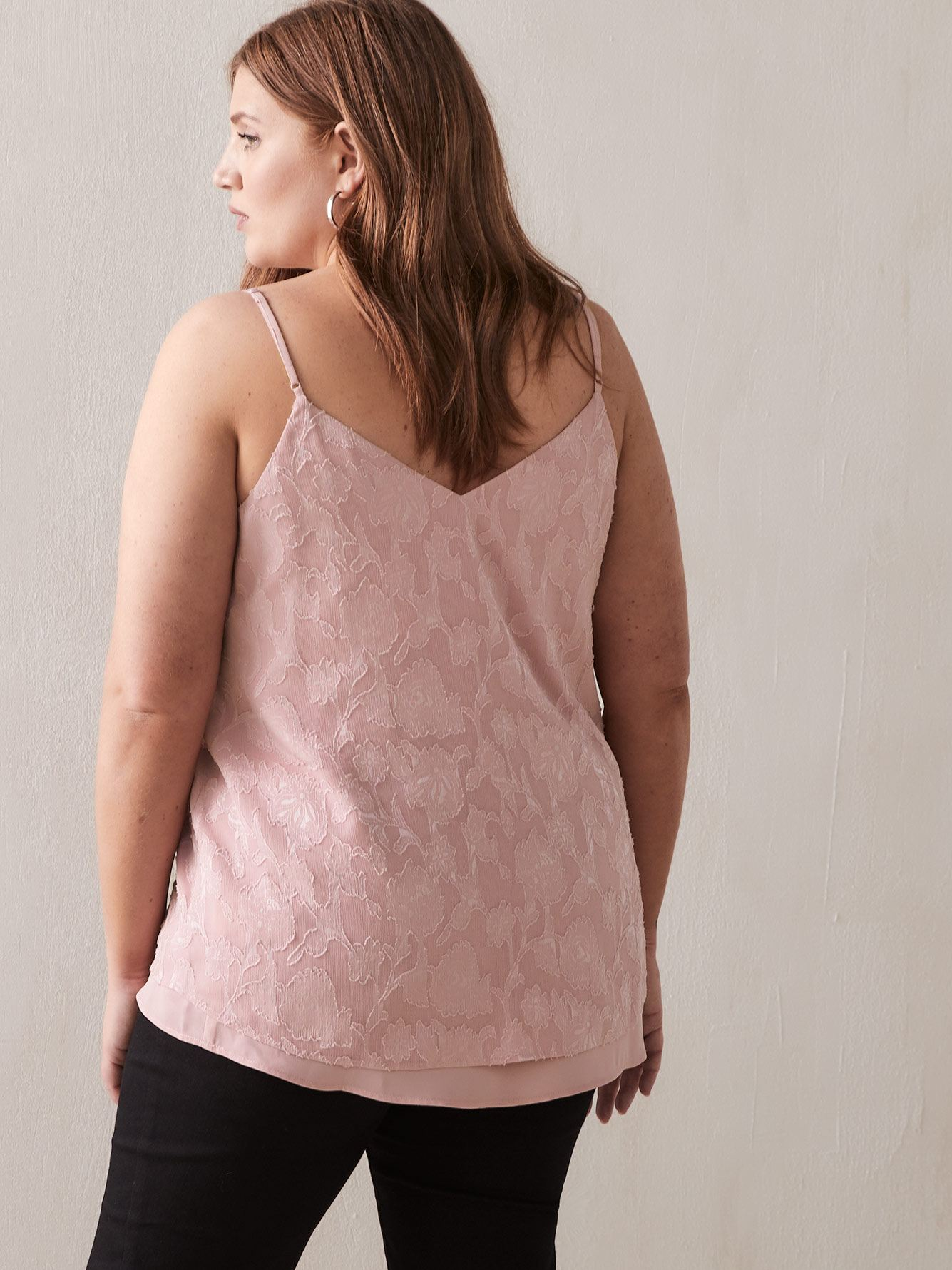 Camisole double col V