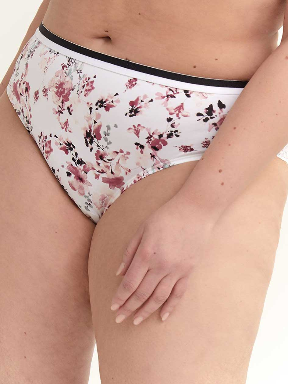Printed Hipster Panty with Lace - ti Voglio