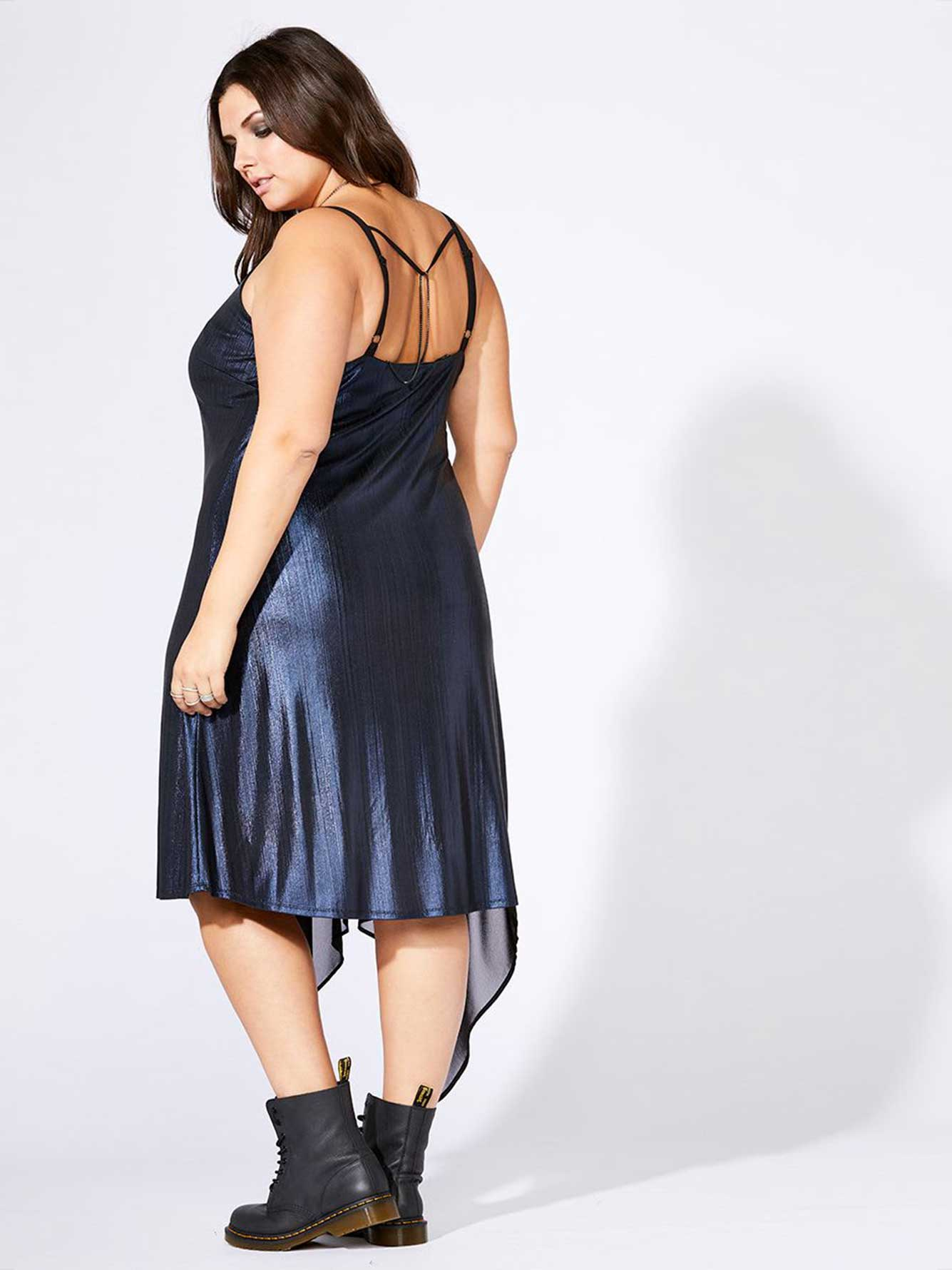 mblm - Asymmetric Dress with Chiffon