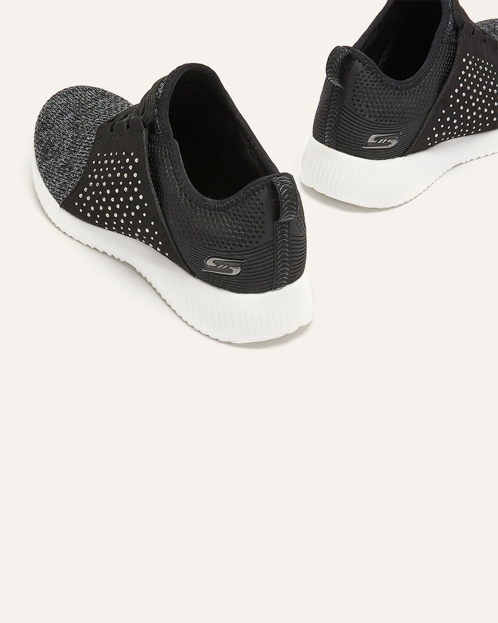 Slip-On Sneakers with Laces and Rhinestones - Skechers