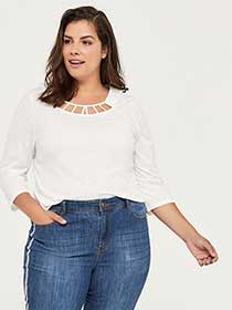 Curve Fit 3/4 Sleeve Top - d/C JEANS