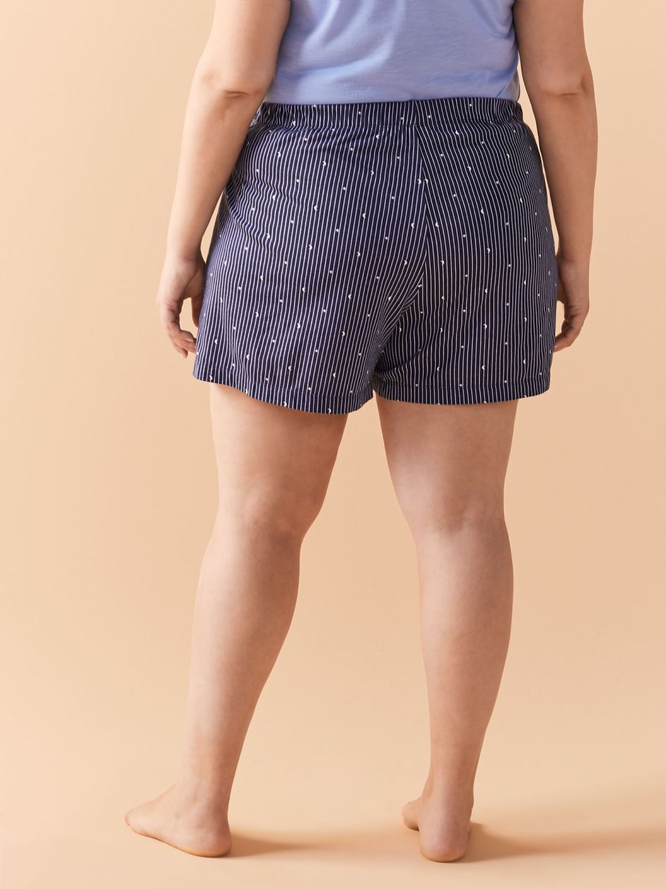 Printed Pajama Pull-On Short - Addition Elle