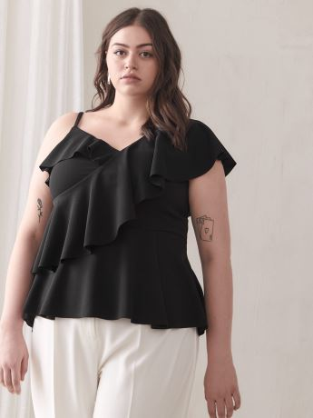 One-Shoulder Ruffle Top - Addition Elle