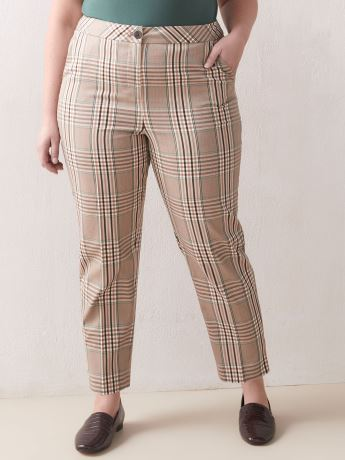 Slim Plaid Pant - Addition Elle