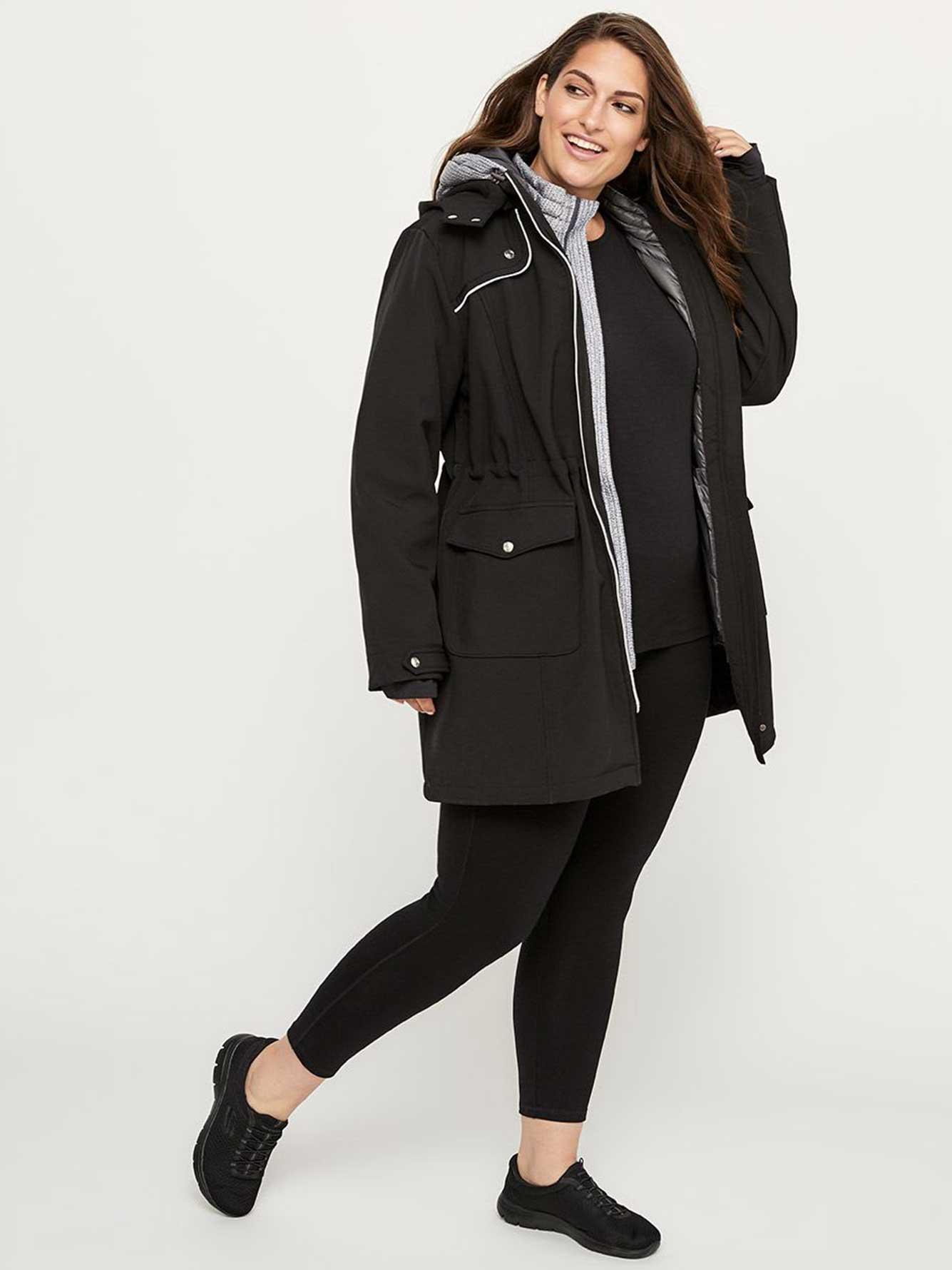 Packable Plus Size Hooded Jacket - ActiveZone