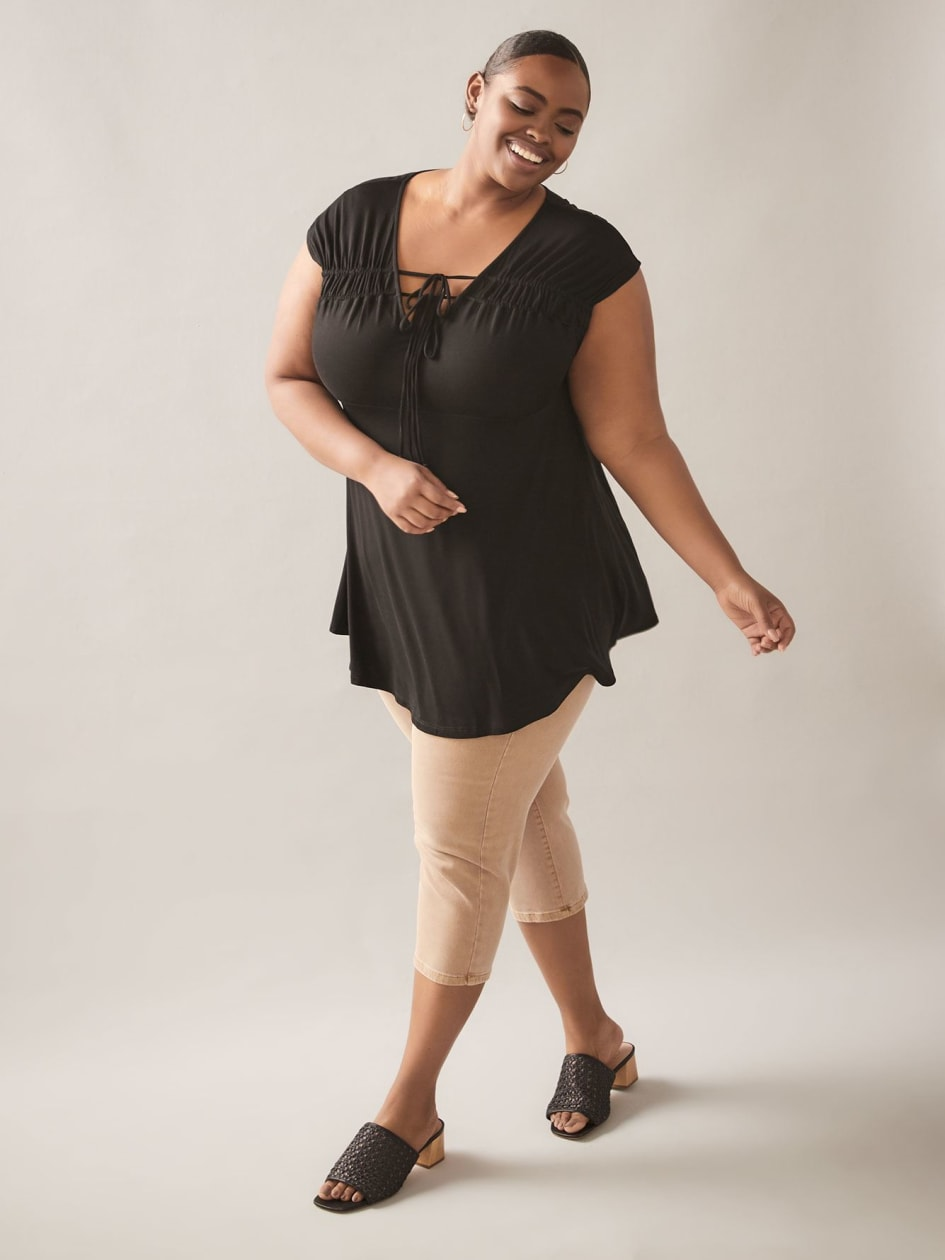 Babydoll Tunic with Adjustable Cap Sleeves - In Every Story