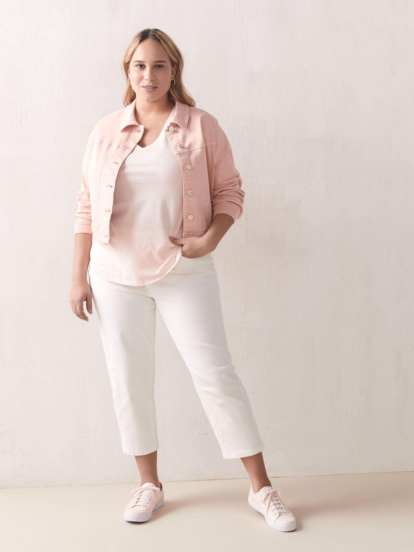 Solid Boyfriend Cotton & Linen T-Shirt - Addition Elle