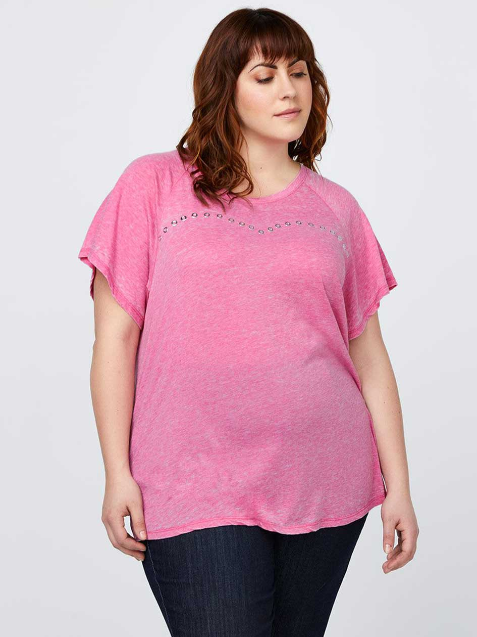 Heather Top with Metallic Eyelets - d/C JEANS