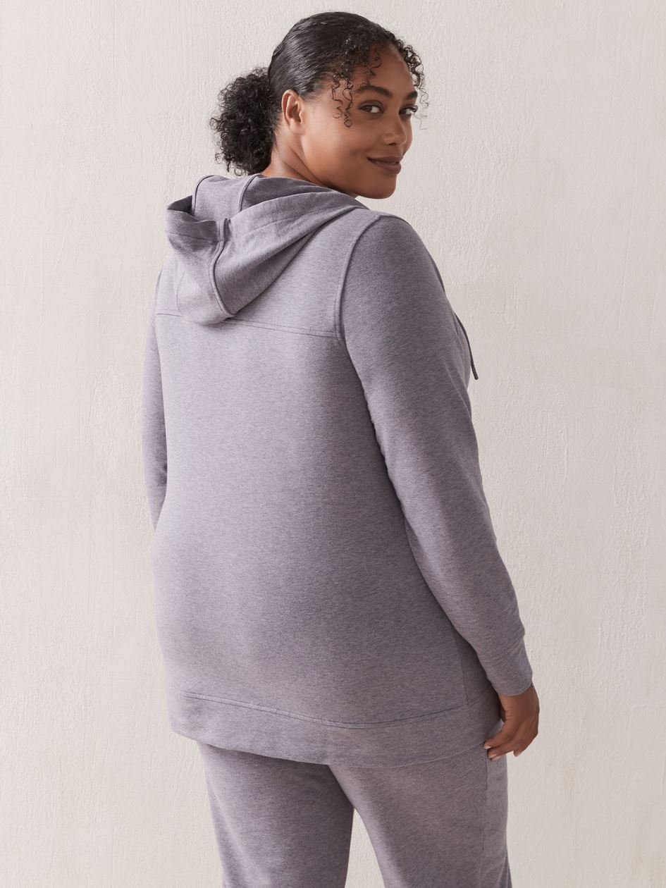 French Terry Zip-Up Hoodie - ActiveZone