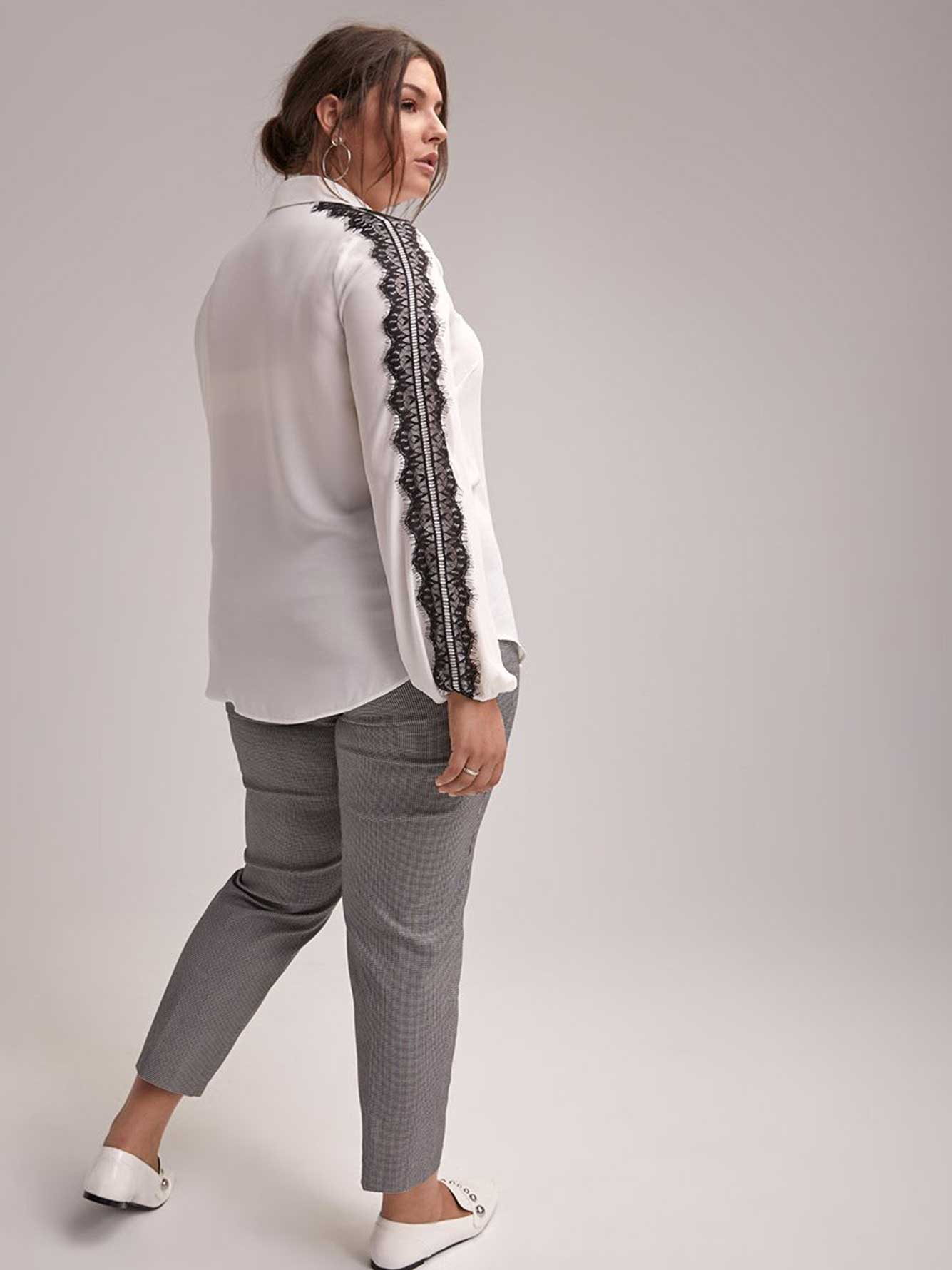 a9bca1dc Long Sleeve Button-Down Blouse with Lace - In Every Story | Penningtons