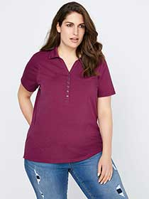 Curve Fit Polo T-Shirt - d/C JEANS
