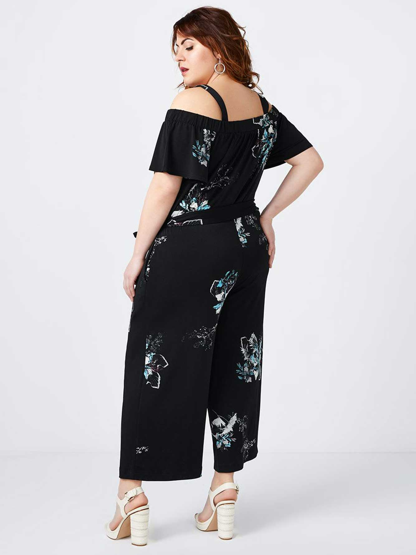 Printed Off Shoulder Jumpsuit - In Every Story