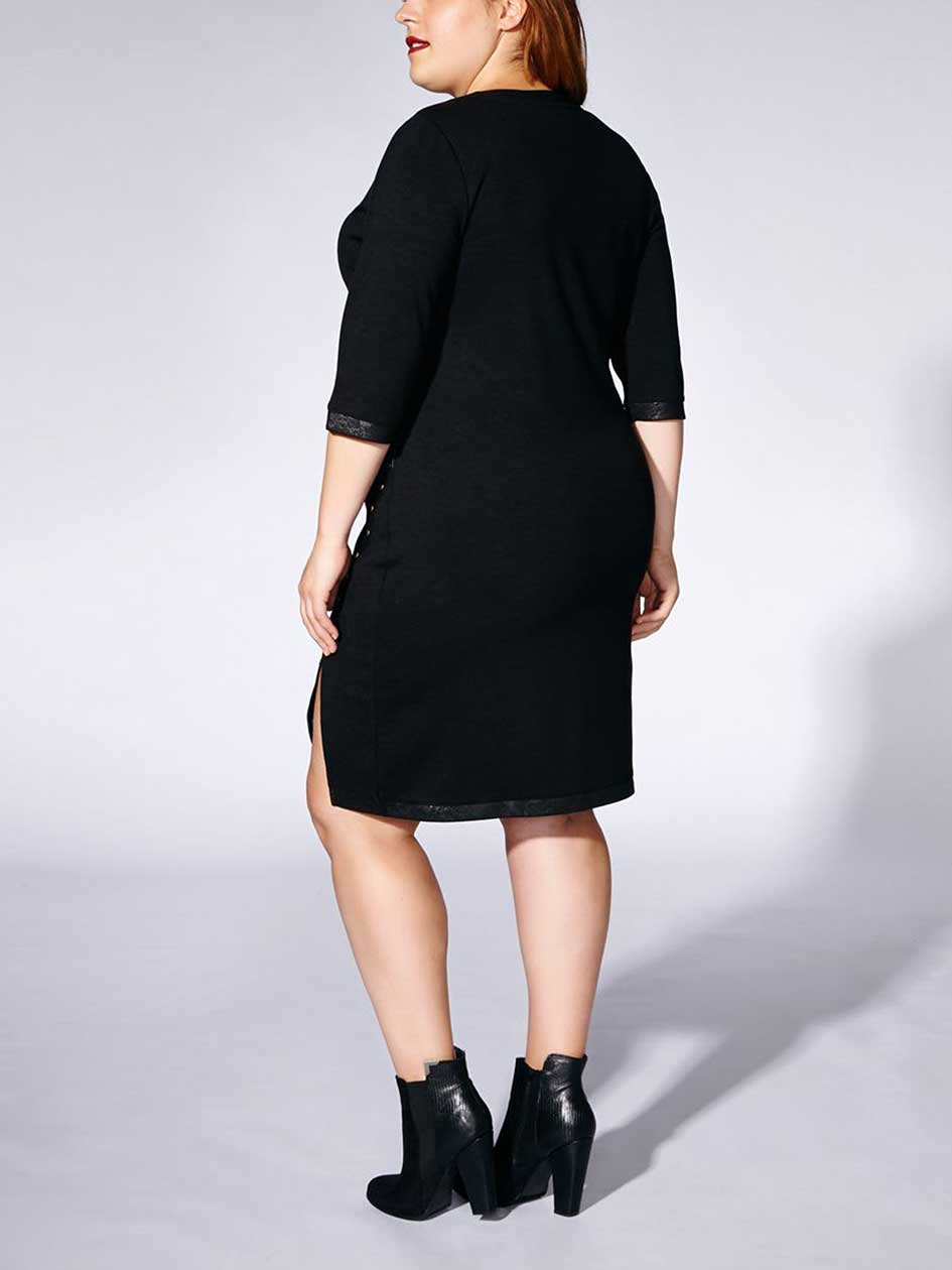 Tess Holliday - 3/4 Sleeve Dress with Studded Trim