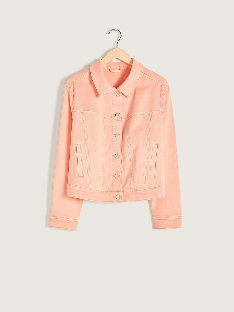 Cropped Coloured Jean Jacket - Addition Elle