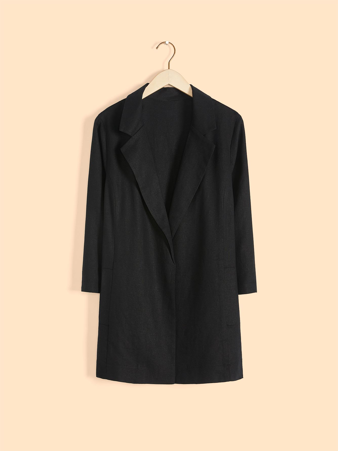 3/4 Sleeve Solid Linen Blend Blazer - In Every Story