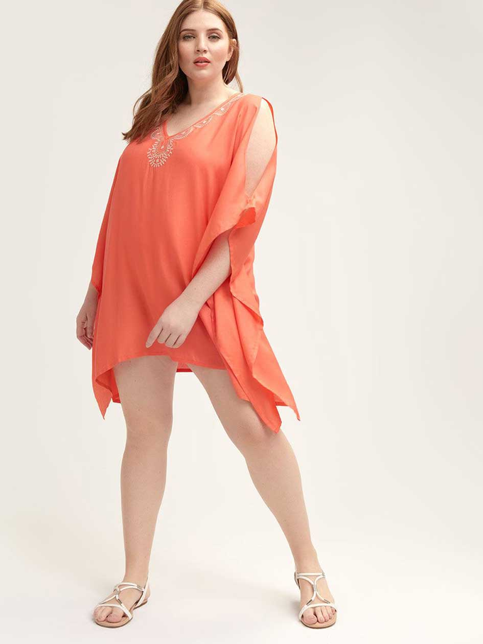 cffe3e1a0a Cotton Swim Cover Up Dress