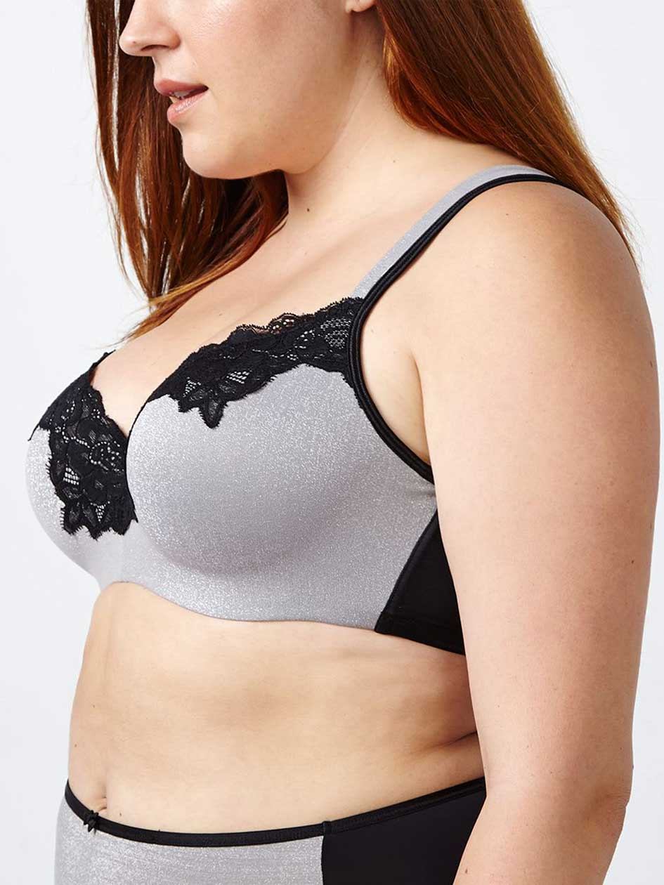 Ti Voglio - Padded T-Shirt Bra with Lace, G & H Cups