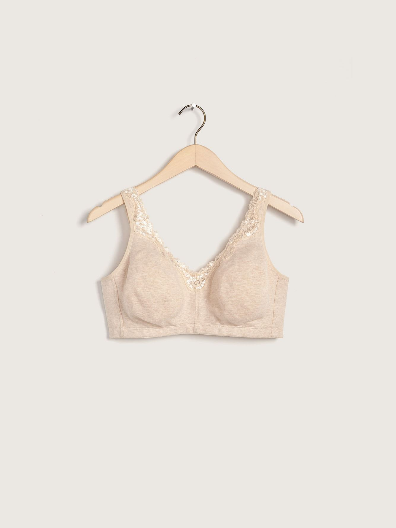 Wireless Heathered Cotton Bra