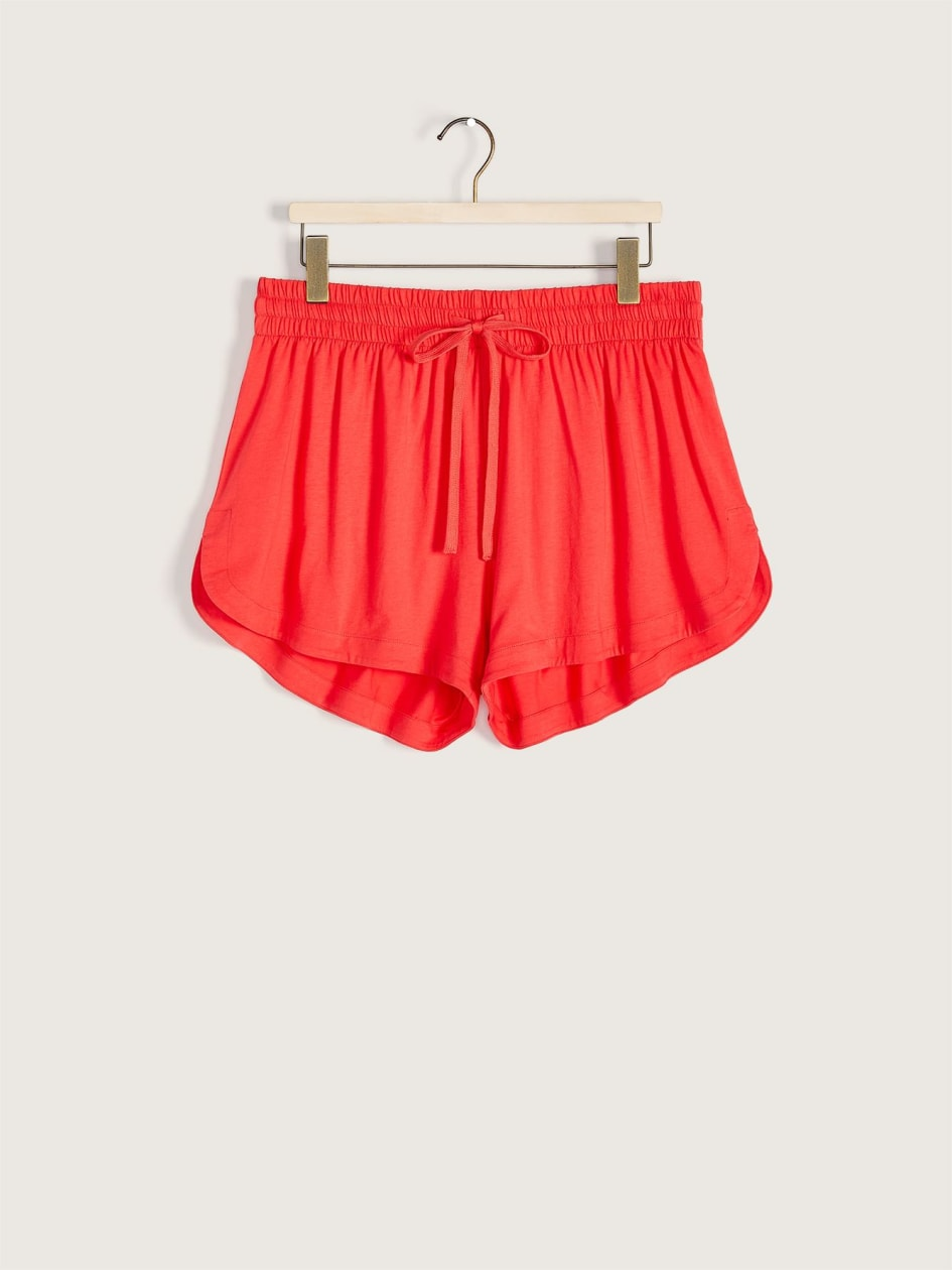 Solid Tie-Front Pajama Short - Addition Elle