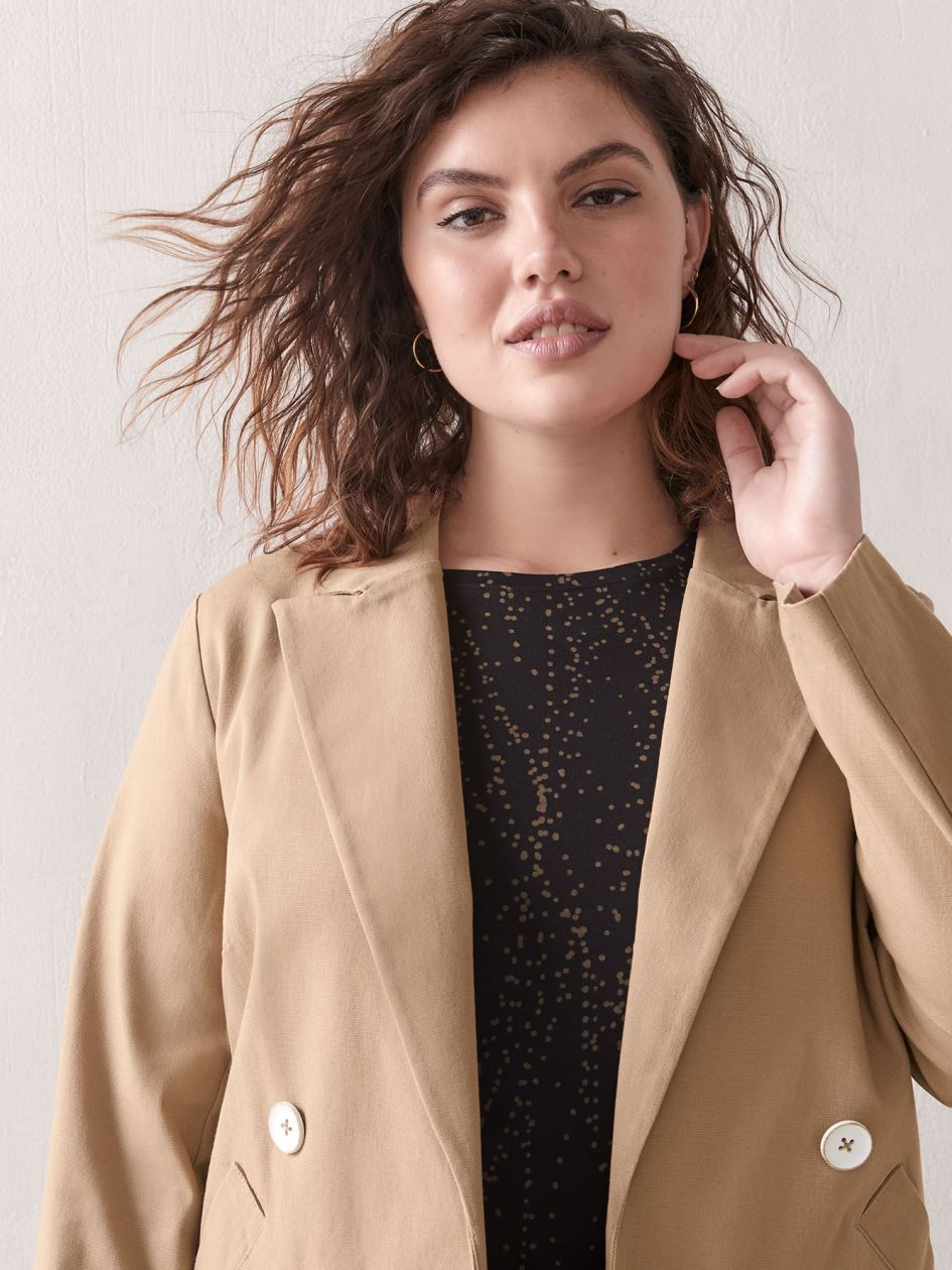 Short Double-Breasted Jacket - Addition Elle