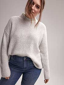 Marled Sweater with Mock Neck - d/C JEANS